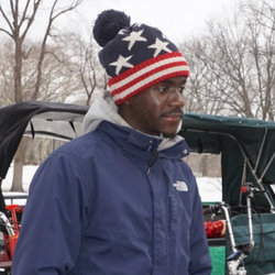 Pedicab operator Khadim Seck in Central Park
