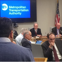 MTA Board is all ears as TWU Rep Dylan Valle discusses the situation at GCS.