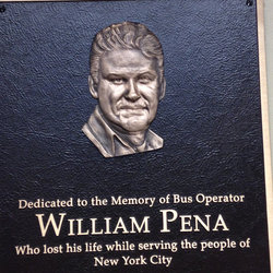 Plaque showing the loss hangs in the William Pena Swing Room at the Quill Depot