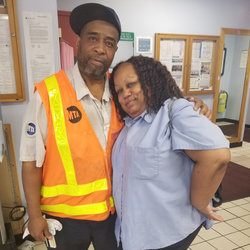 Motorman Phil Davis, with Wife Stacey, a NYCT Conductor