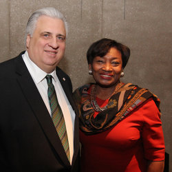 New York's first woman to serve as Senate Majority Leader, Andrea Stewart-Cousins, with TWU Local 100 President Tony Utano at a recent event.