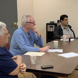 Local 100 President Utano and officers meet with School/Paratransit company owners in Yonkers