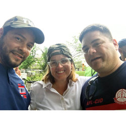 TAS Chair Willie Rivera and Vice Chair Armando Serrano were able to meet with San Juan Mayor Carmen Yulín Cruz to offer the union's assistance and best wishes.